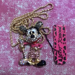 New NWT Betsey Johnson Minnie Mouse golf necklace